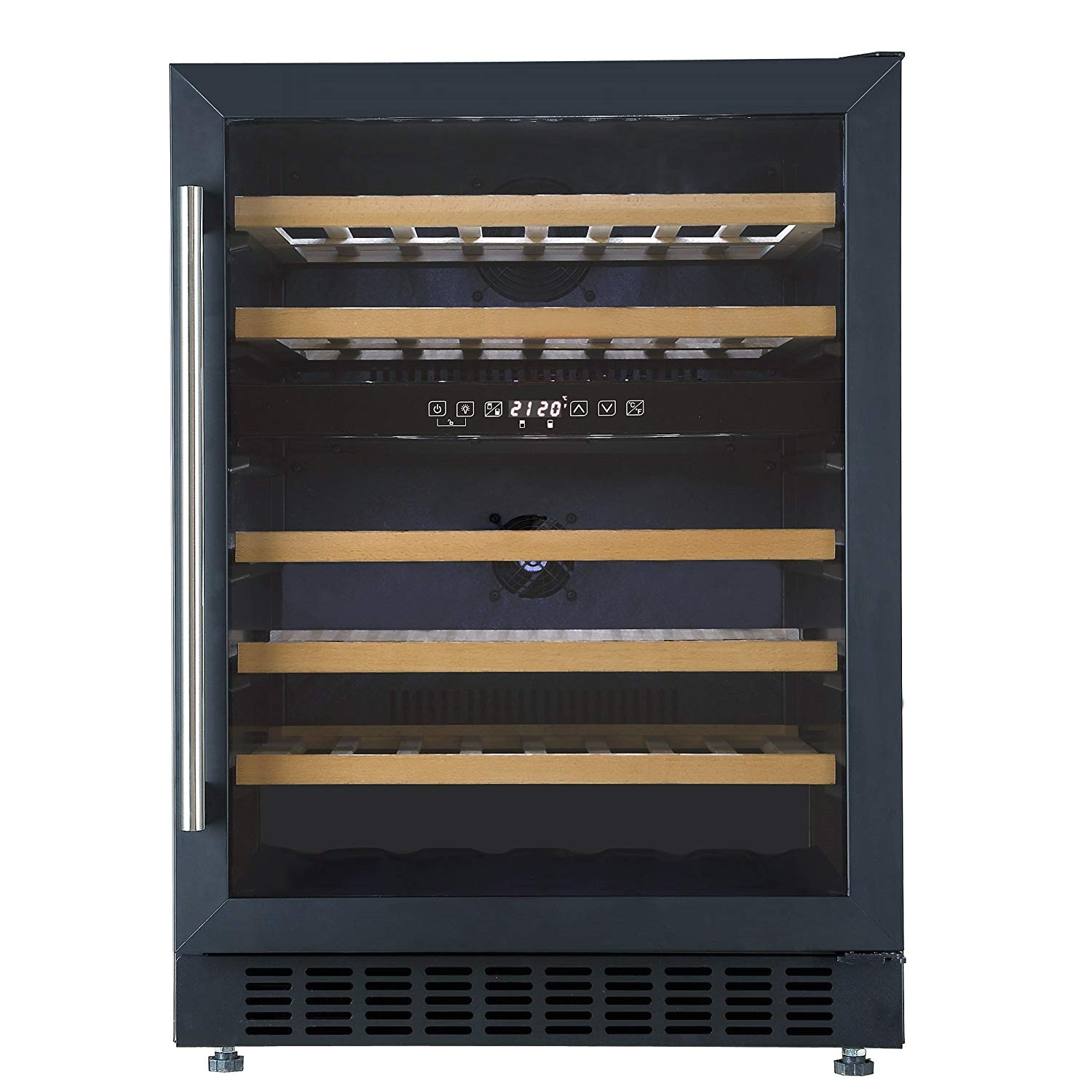 cookology cwc605bk undercounter 46 bottle 60cm two zone wine cooler in black 5 20c amazon co uk large appliances