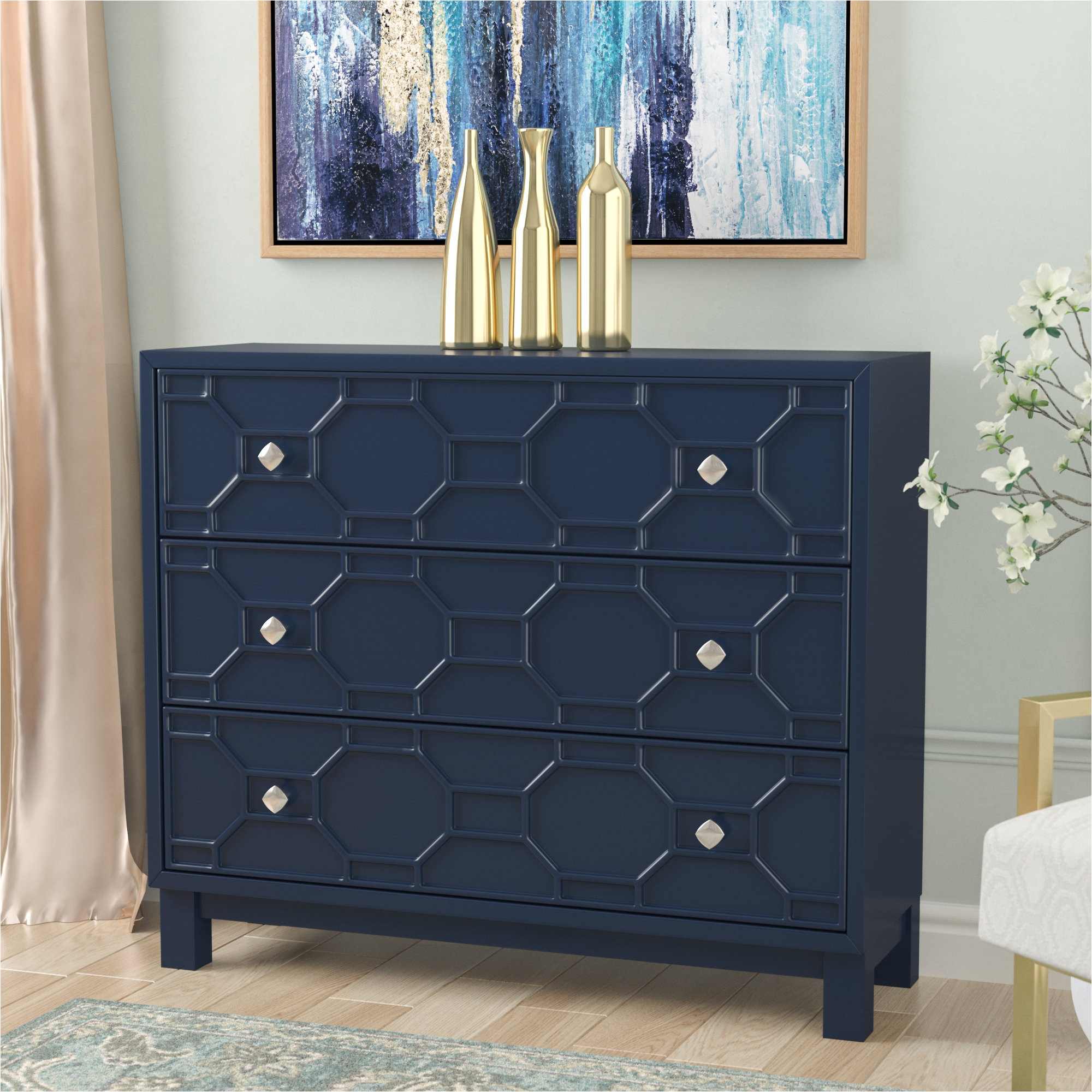 shallow dressers for small spaces beautiful willa arlo interiors rosen 3 drawer accent chest reviews