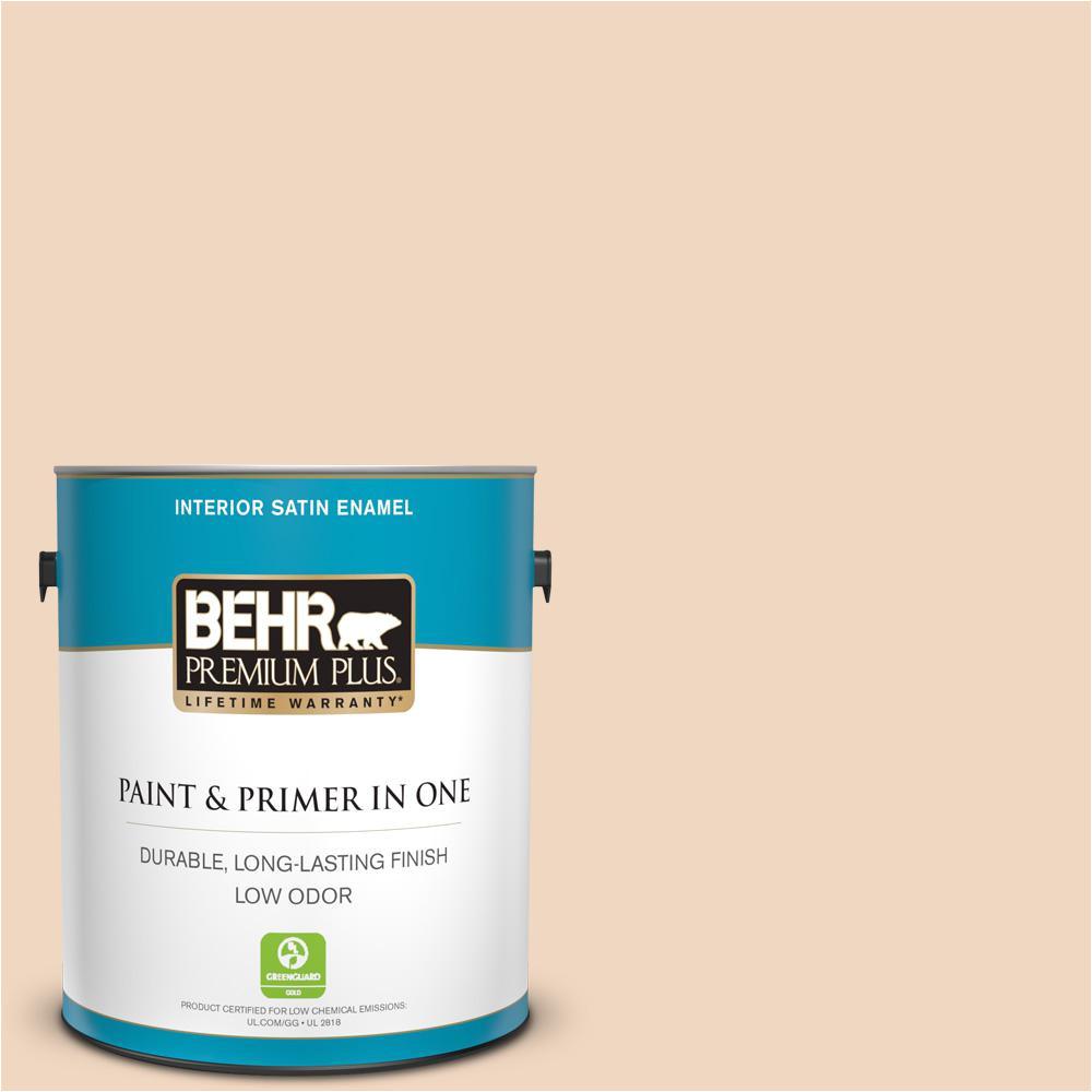 behr premium plus 1 gal ppu4 10 porcelain skin satin enamel low odor