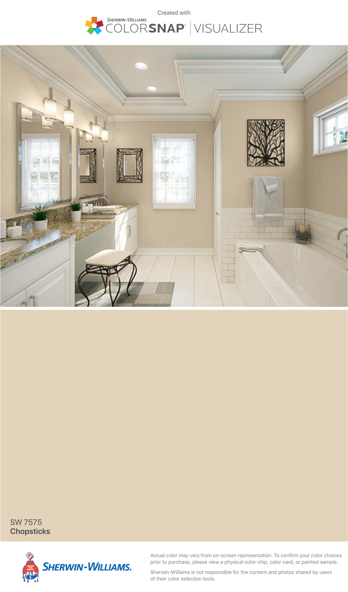 i found this color with colorsnapa visualizer for iphone by sherwin williams chopsticks sw 7575