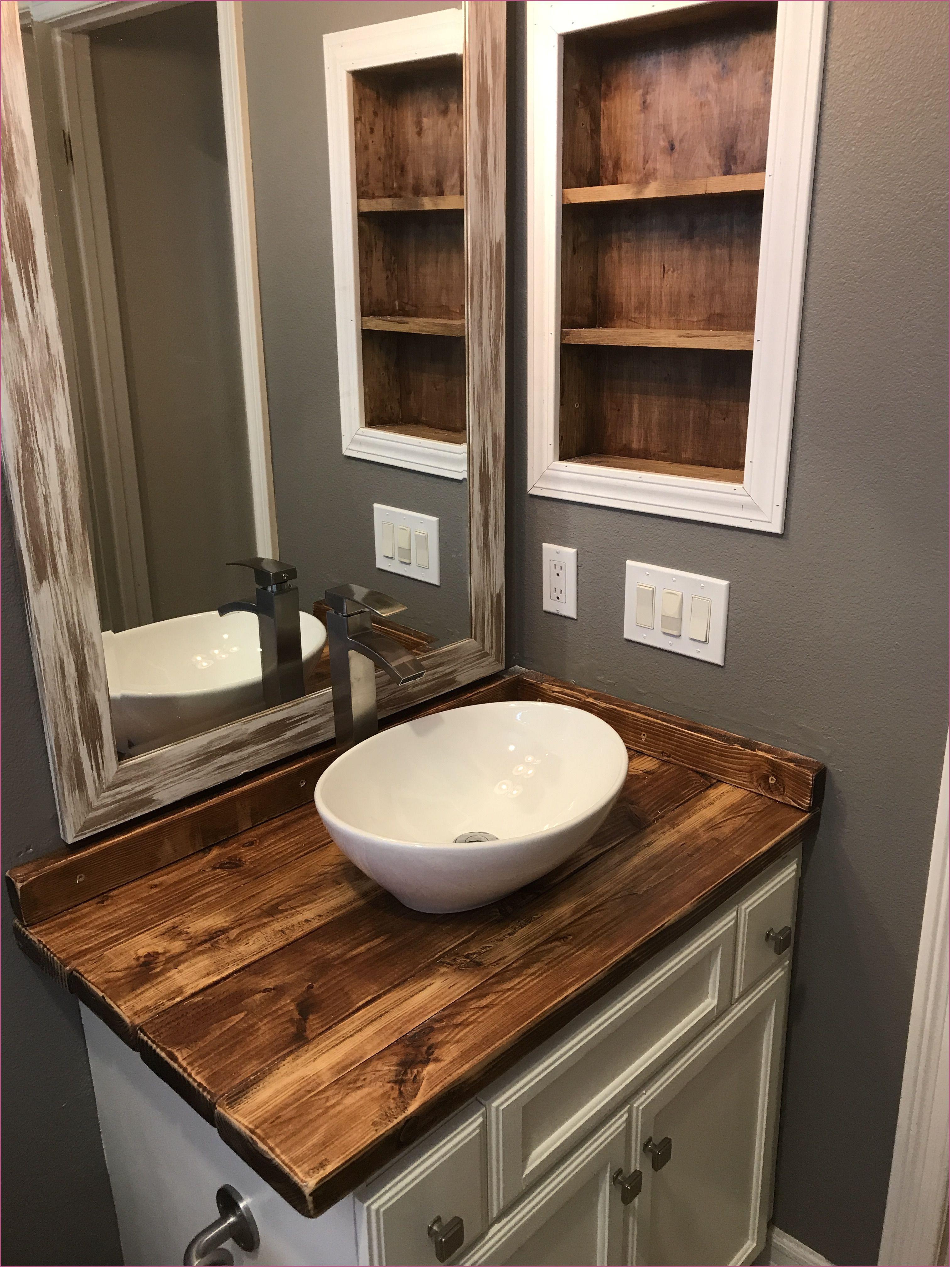 diy rustic wood countertop and vessel sink bathroom makeover bathroom rustic 36 inspirational shiplap in bathroom moisture