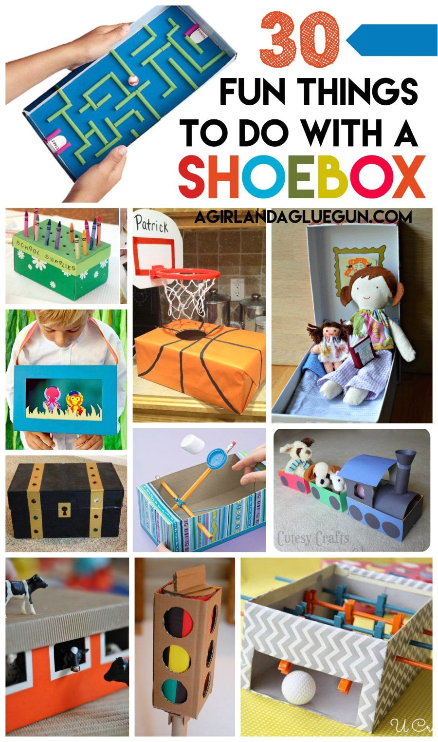 30 fun things for kids to do with a shoe box