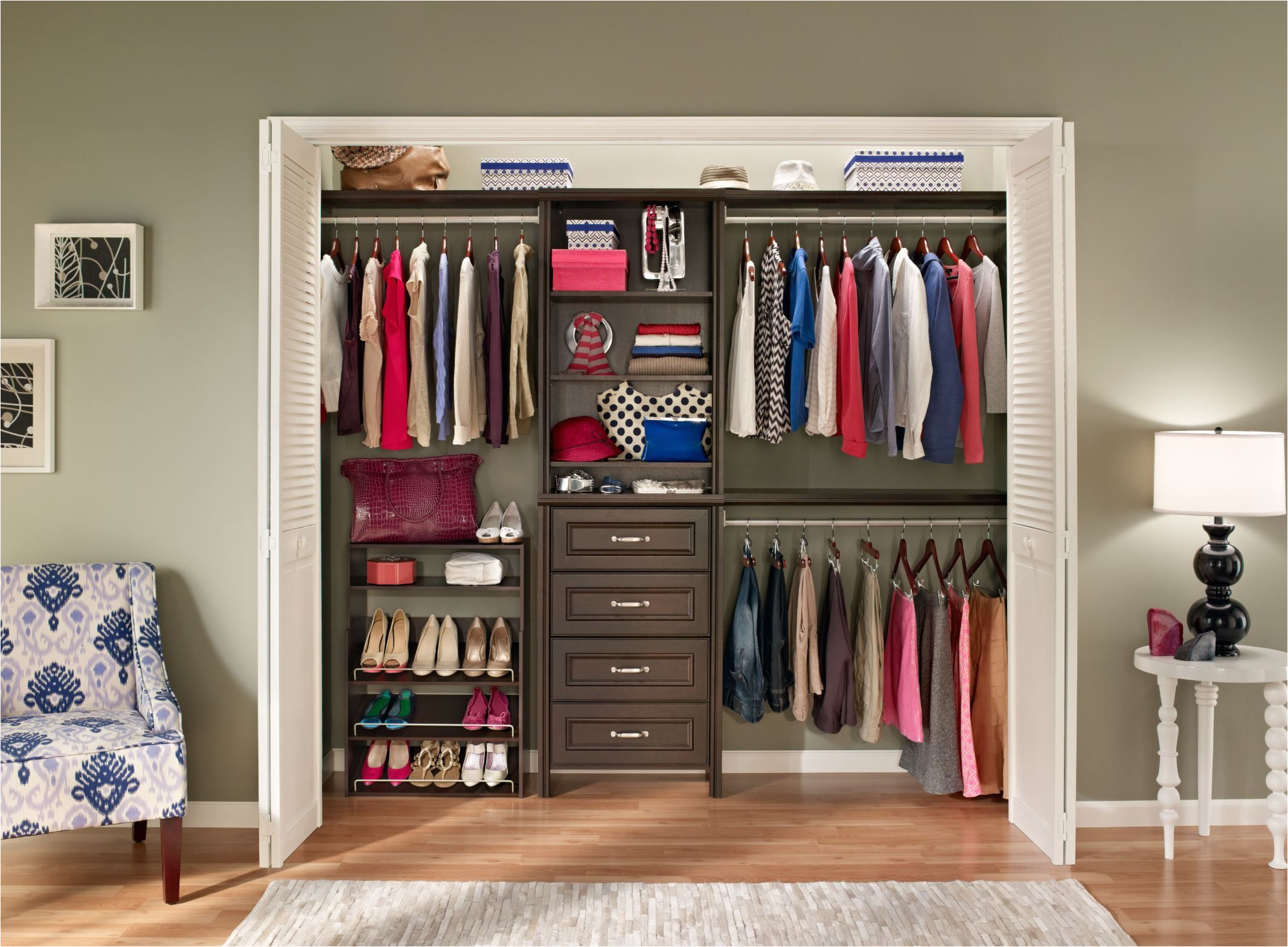 impressed by this closet system check out the beautiful closetmaid chocolate impressions at the homedepot today