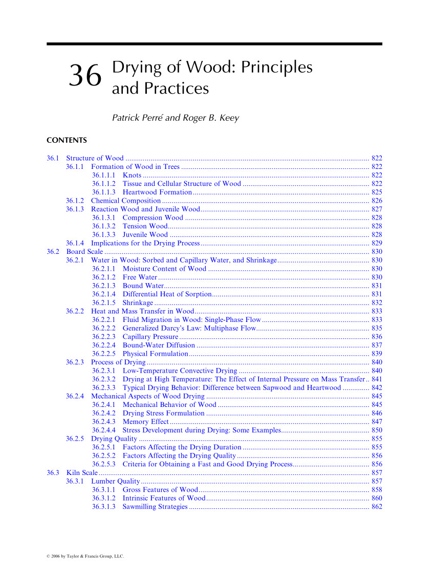 pdf 36 drying of wood principles and practices