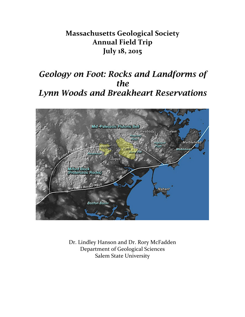 pdf geology on foot rocks and landforms of the lynn woods and breakheart reservations