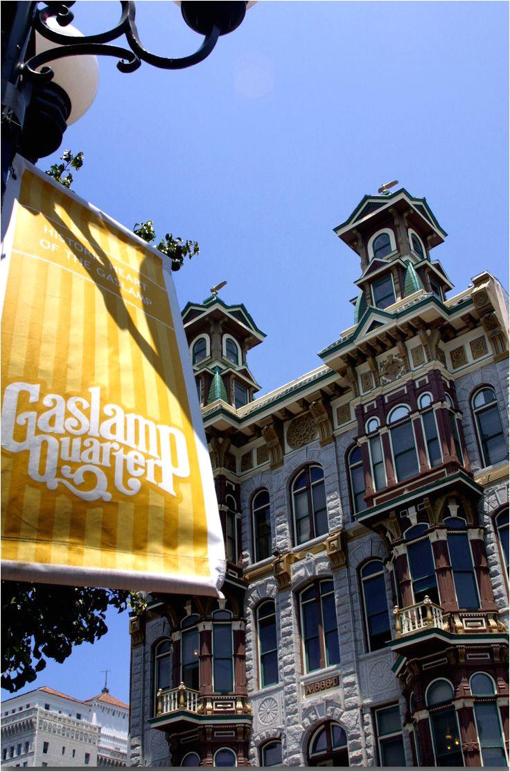 gaslamp quarter with flag san diego tourism san diego california read story