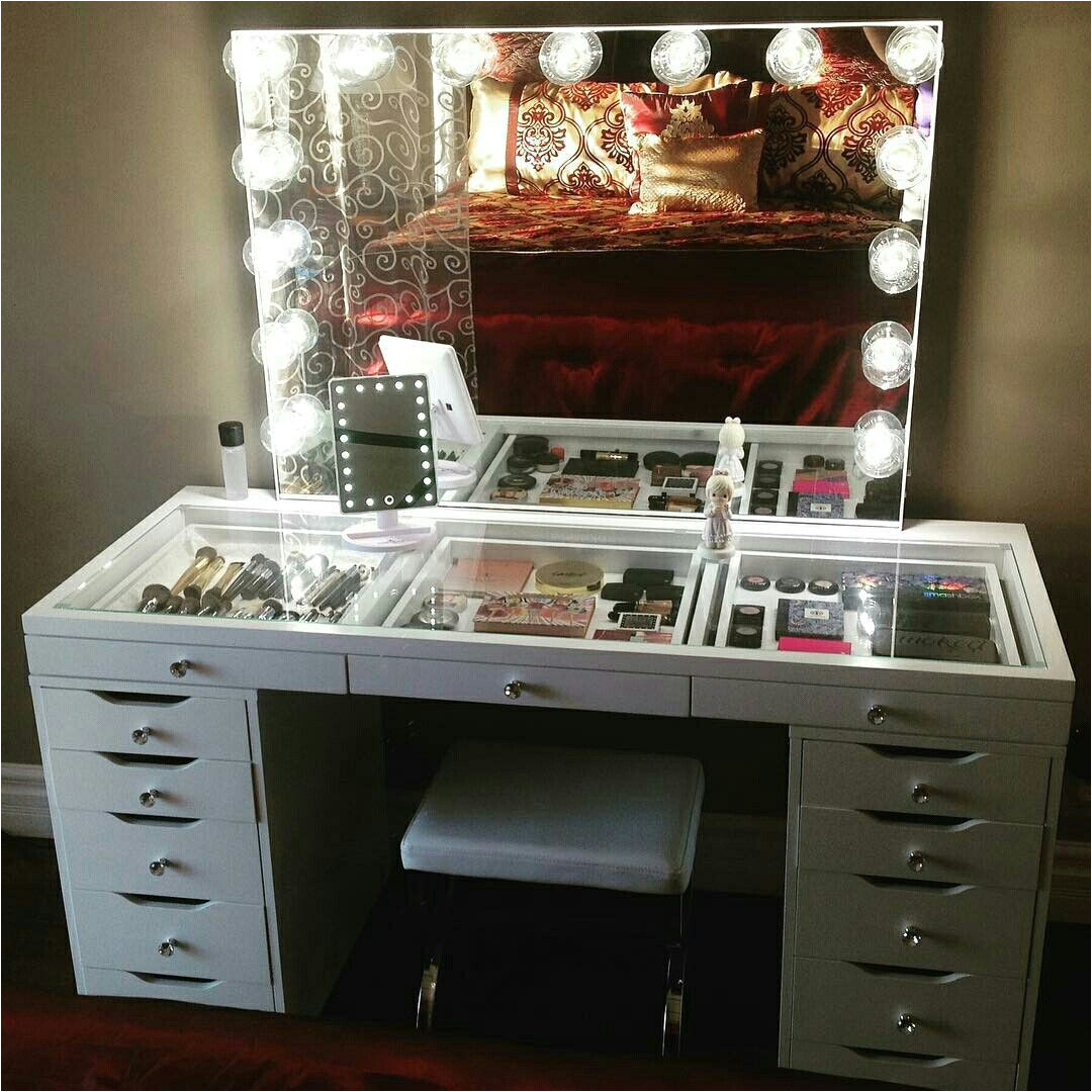 impressions vanity with ikea alex drawers