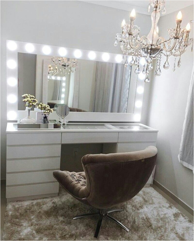 beautiful vanity dressing table with lights because your beauty matters mira design interiors