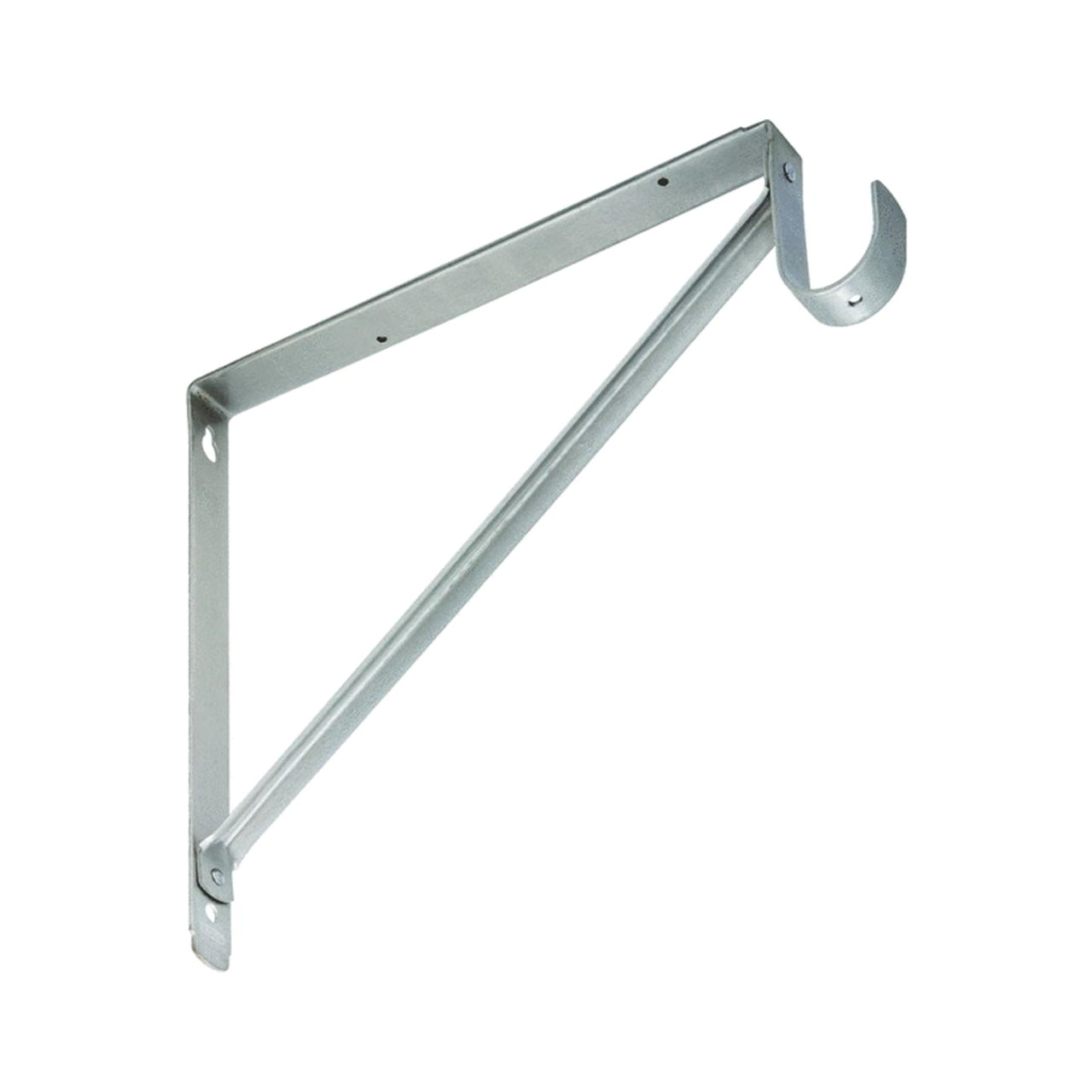 amazon com lido designs brushed nickel heavy duty shelf and rod bracket national hardware home kitchen