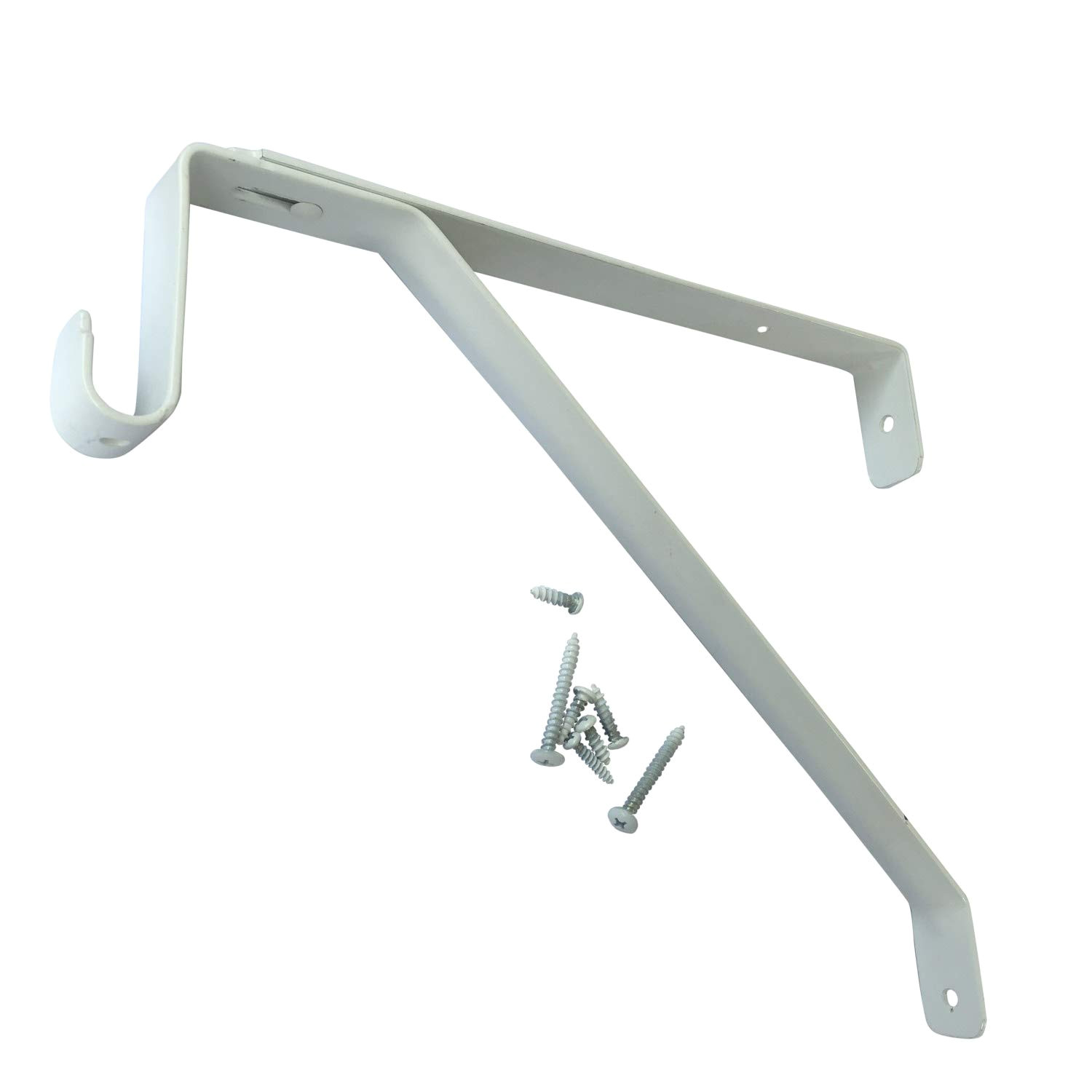 desunia oval closet rod shelf bracket adjustable for rear cleat strip white 1