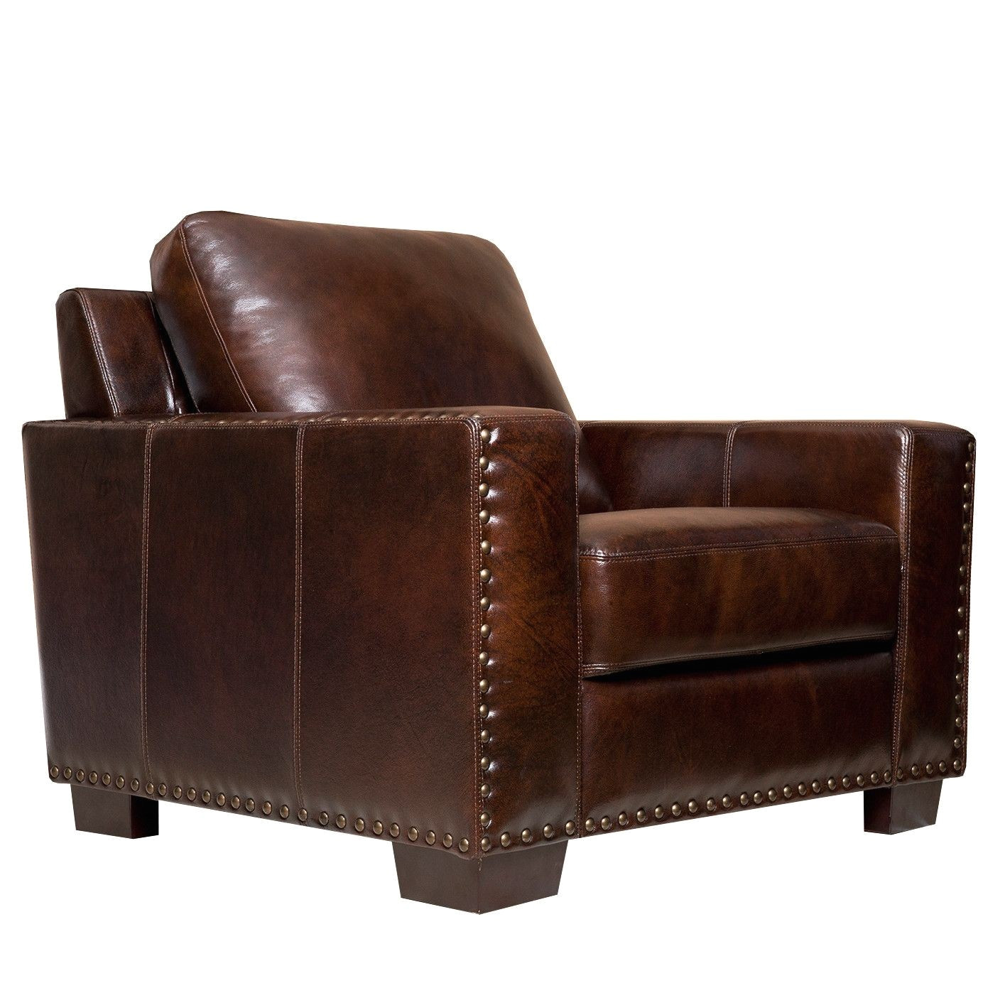 awesome brown leather accent chair