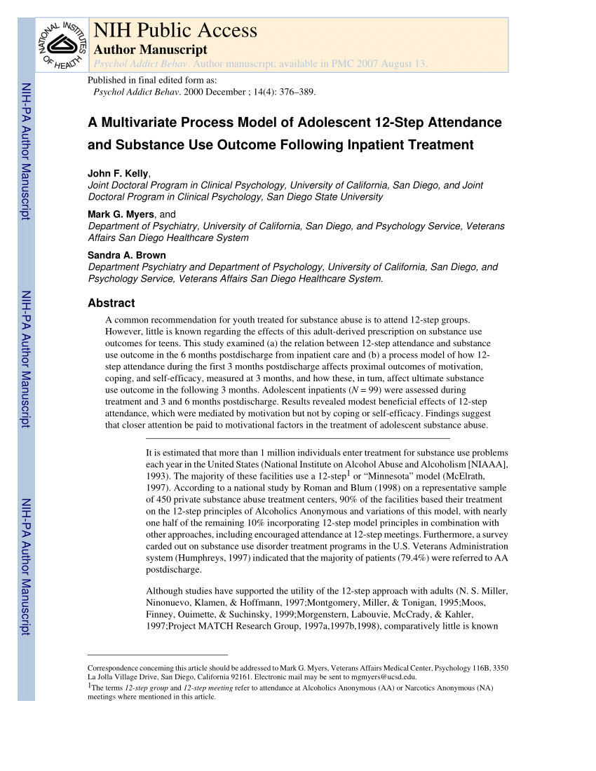 pdf development and initial validation of a 12 step participation expectancies questionnaire