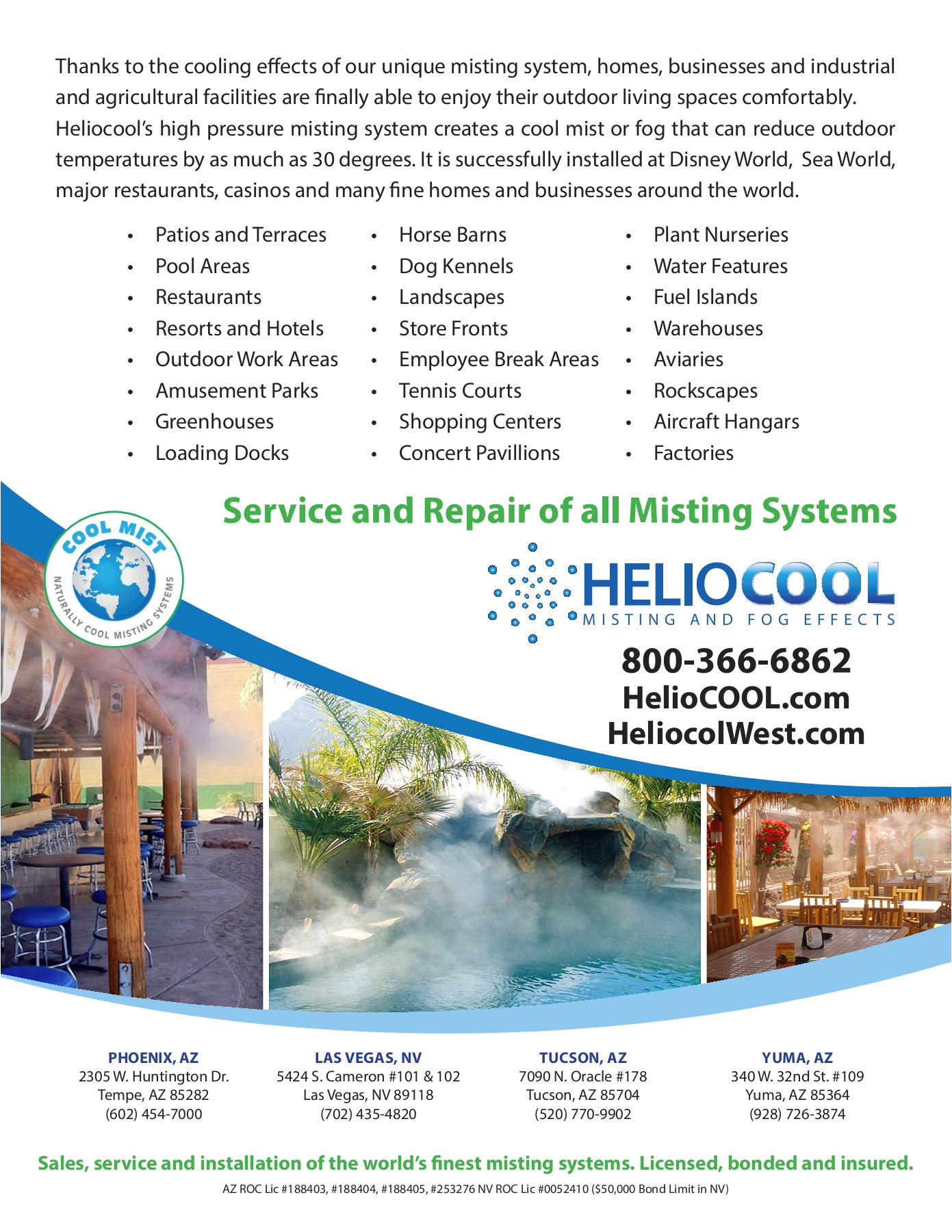 Solar Pool Heating Repair Las Vegas Misting Literature Package Pages 1 24 Text Version Anyflip