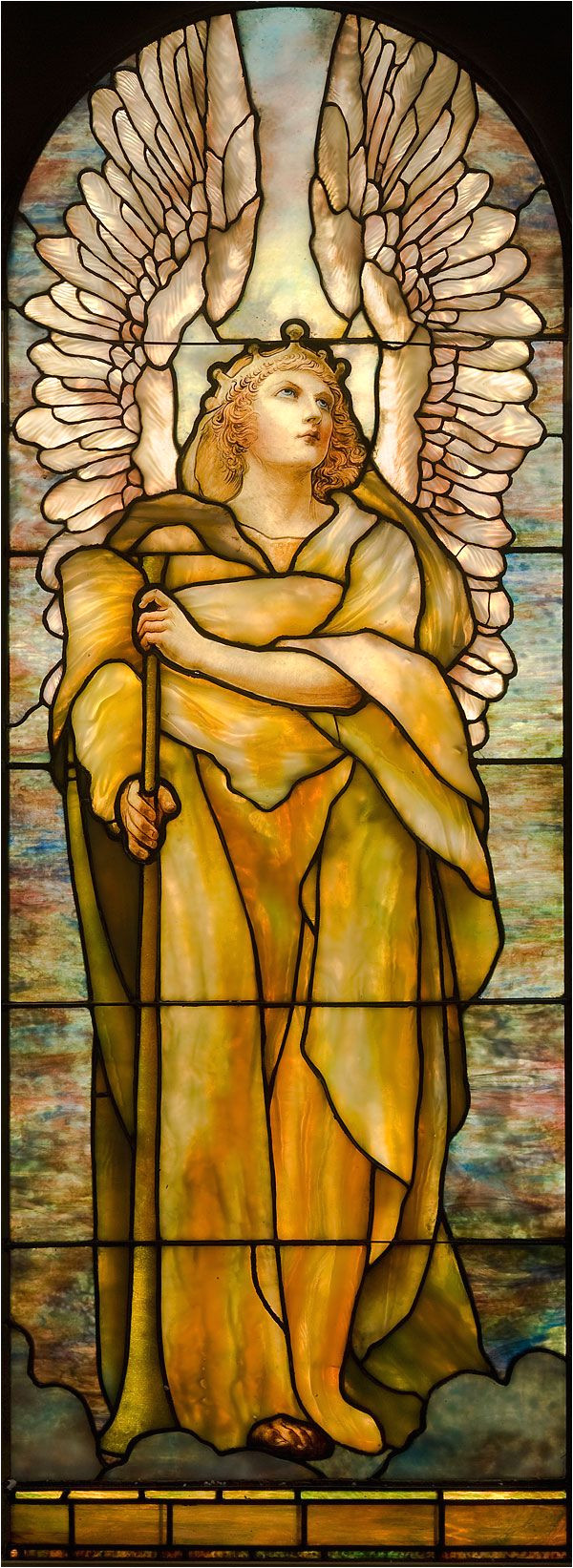 angel of the resurrection by louis c tiffany collection of the montreal museum of fine arts more on glass art stained glass