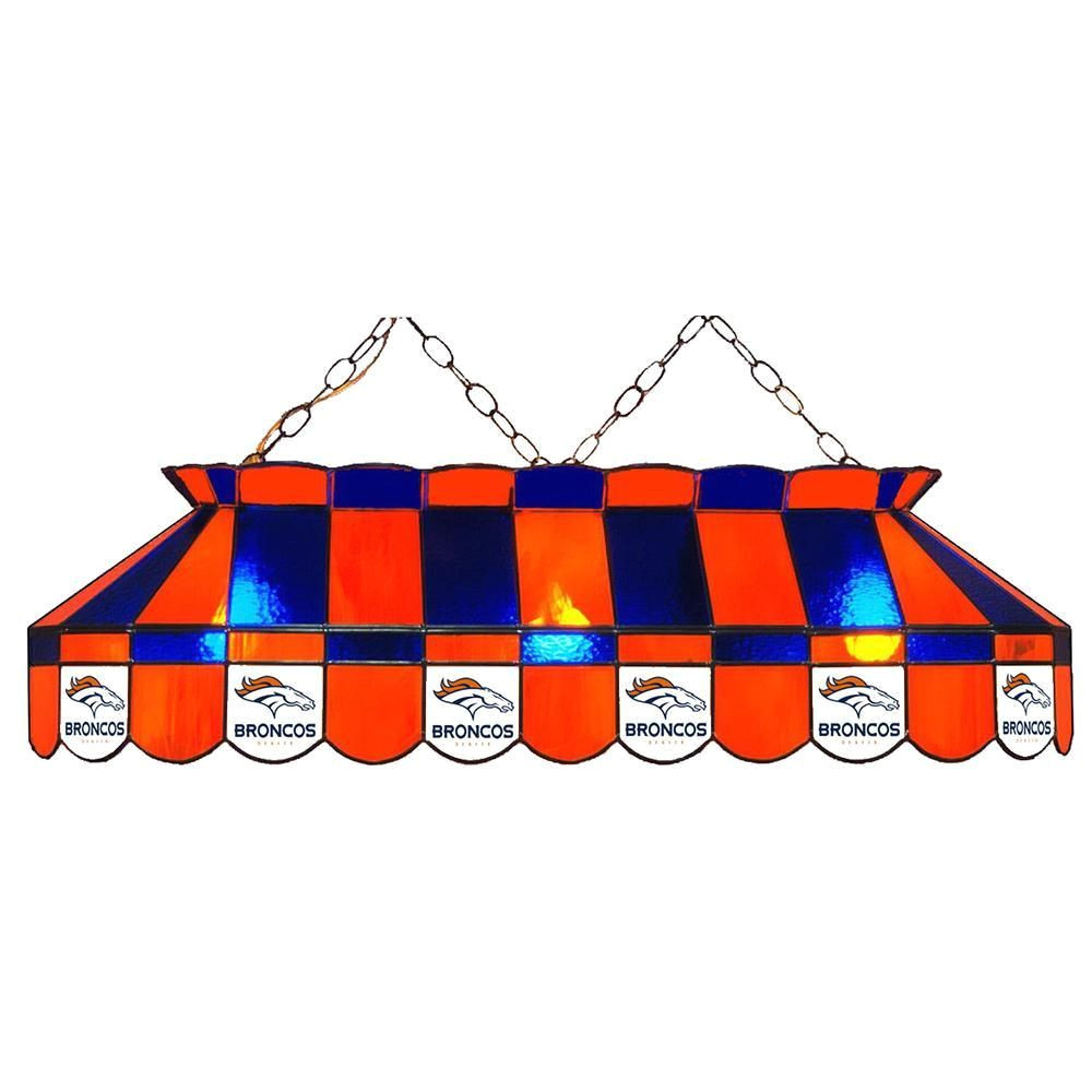 denver broncos nfl 40 inch billiards stained glass lamp