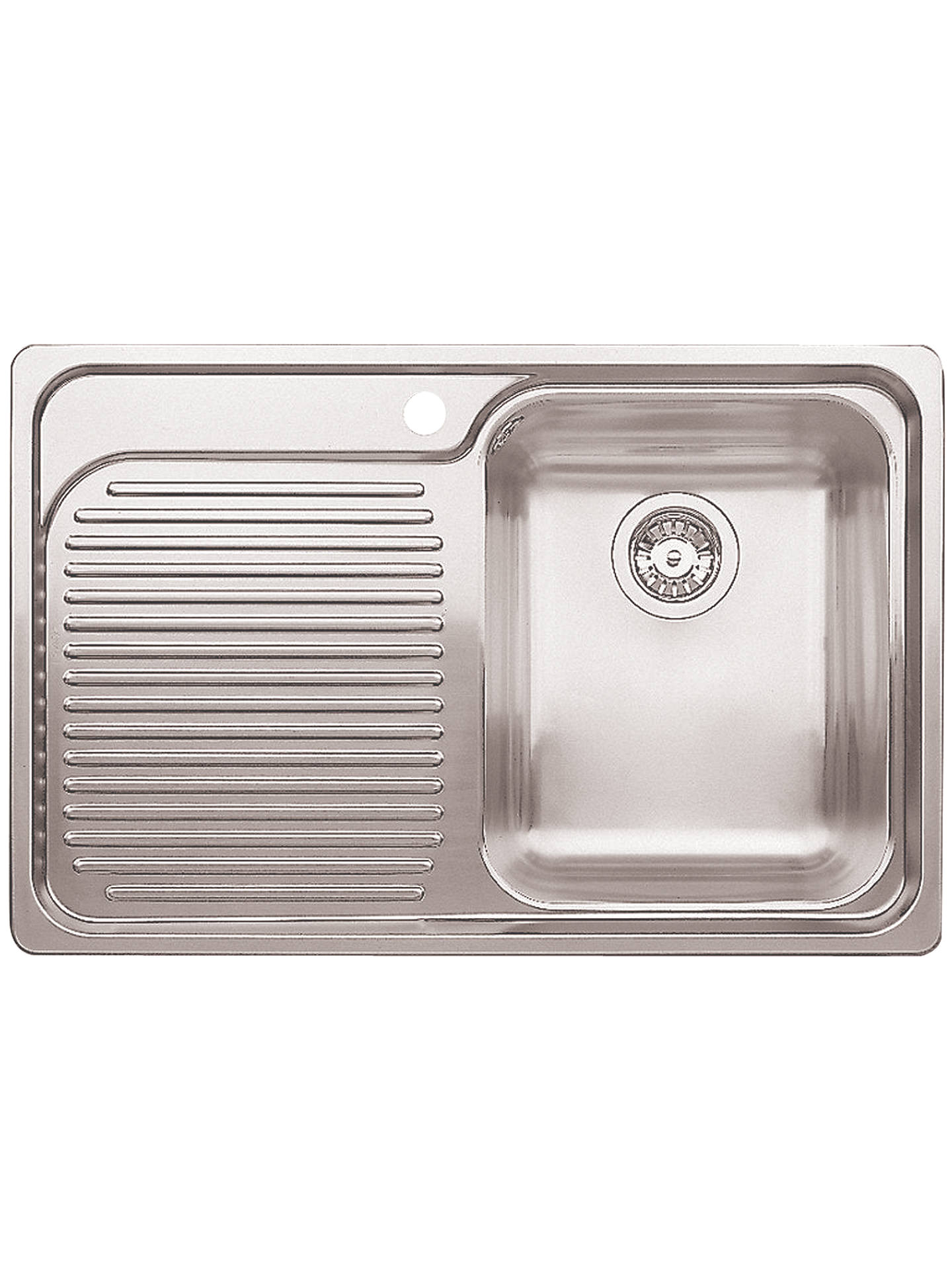 buyblanco classic 4s single inset kitchen sink with right hand bowl stainless steel online at