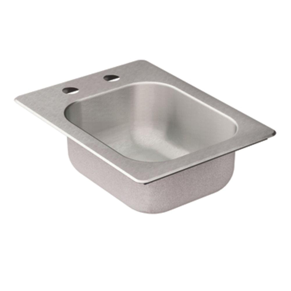 Stand Alone Kitchen Sink Malaysia Moen 2000 Series Drop In Stainless Steel 16 625 In 2 Hole Bar