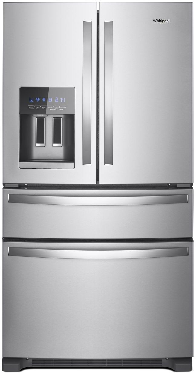 ft french door refrigerator fingerprint resistant stainless steel whirlpool