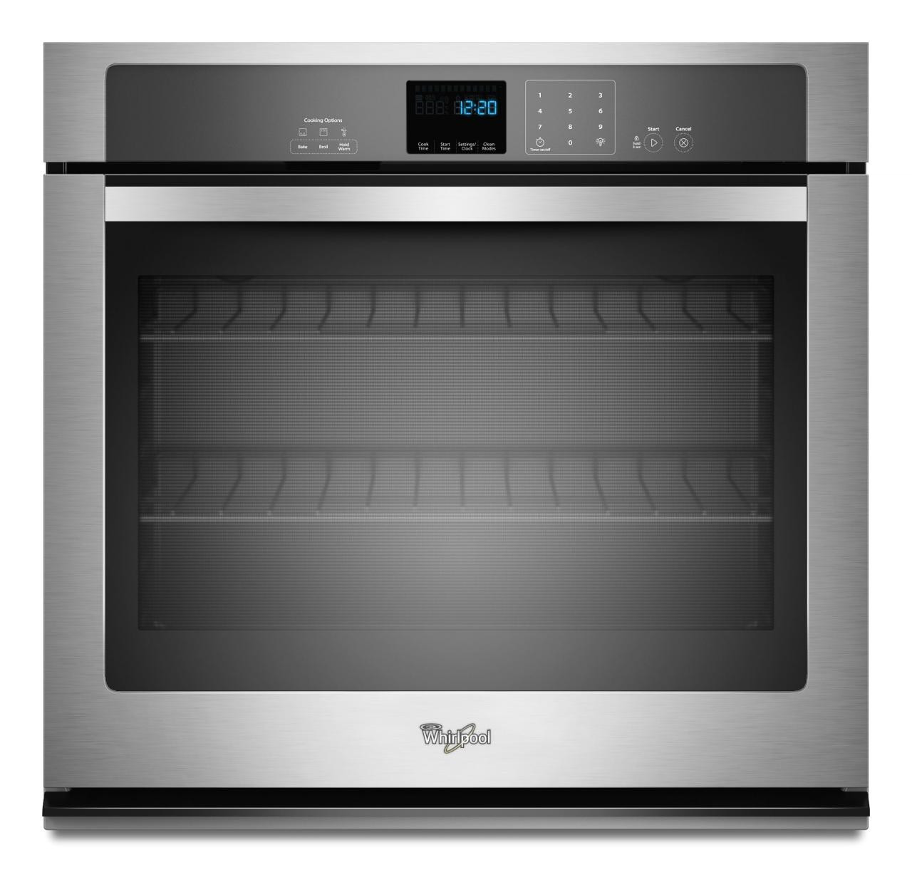 2 299 00 a whirlpoola 30 electric built in single oven stainless steel wos51ec0as whirlpool
