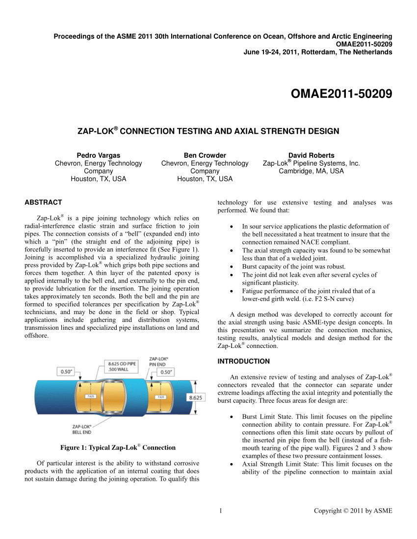 pdf zap loka connection testing and axial strength design