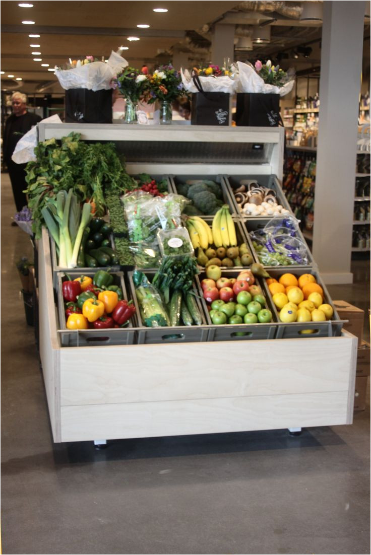plyboard clad chilled veg display at gloucester gateway service station supplied by me