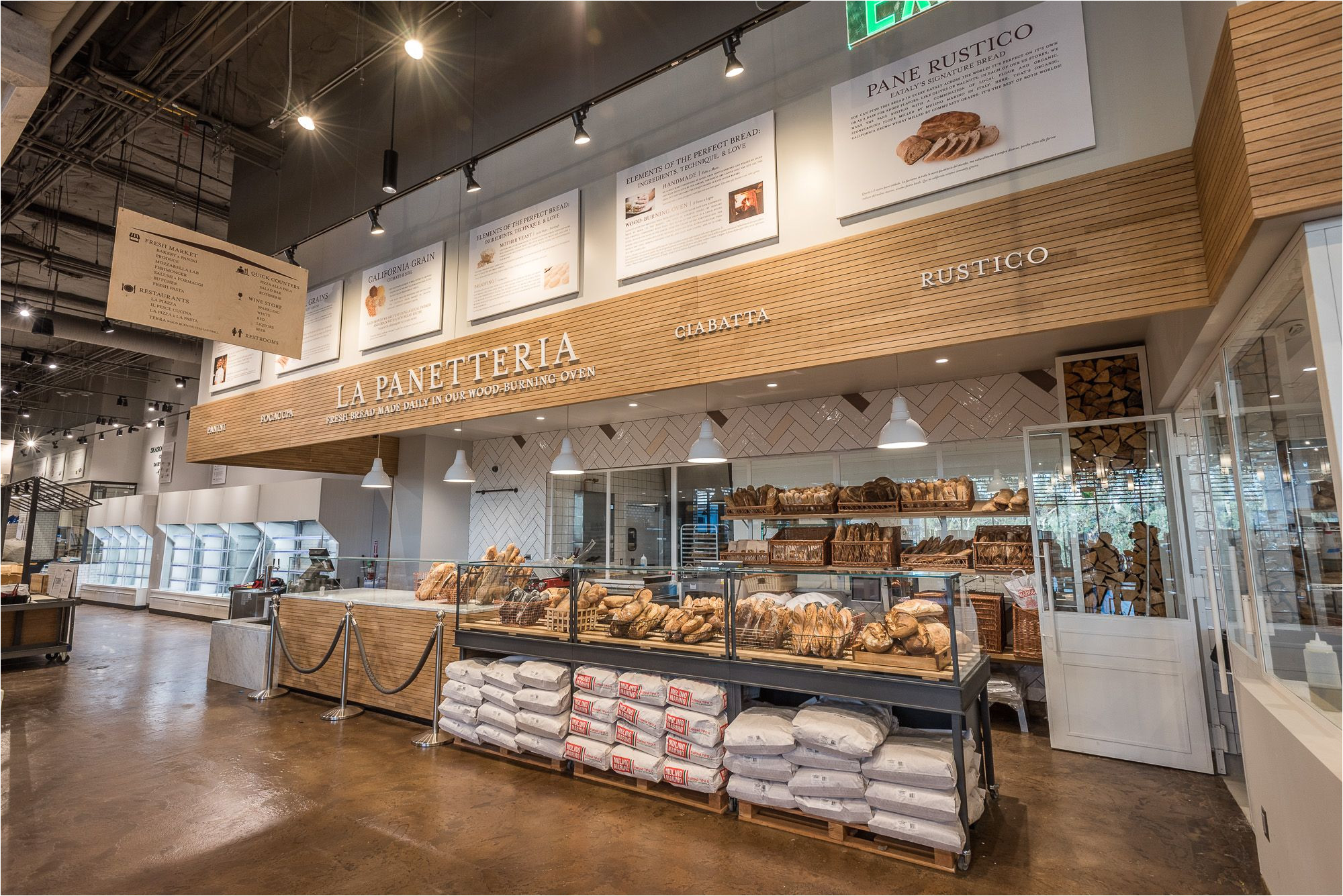 inside eataly la s colossal emporium of italian cuisine eater laclockmenumore arrownoyes the massive westfield century city project officially opens