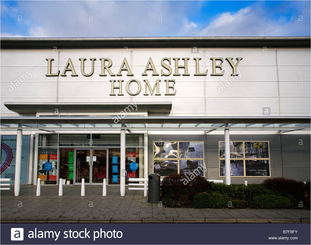 laura ashley home store at braehead retail estate renfrewshire scotland stock image