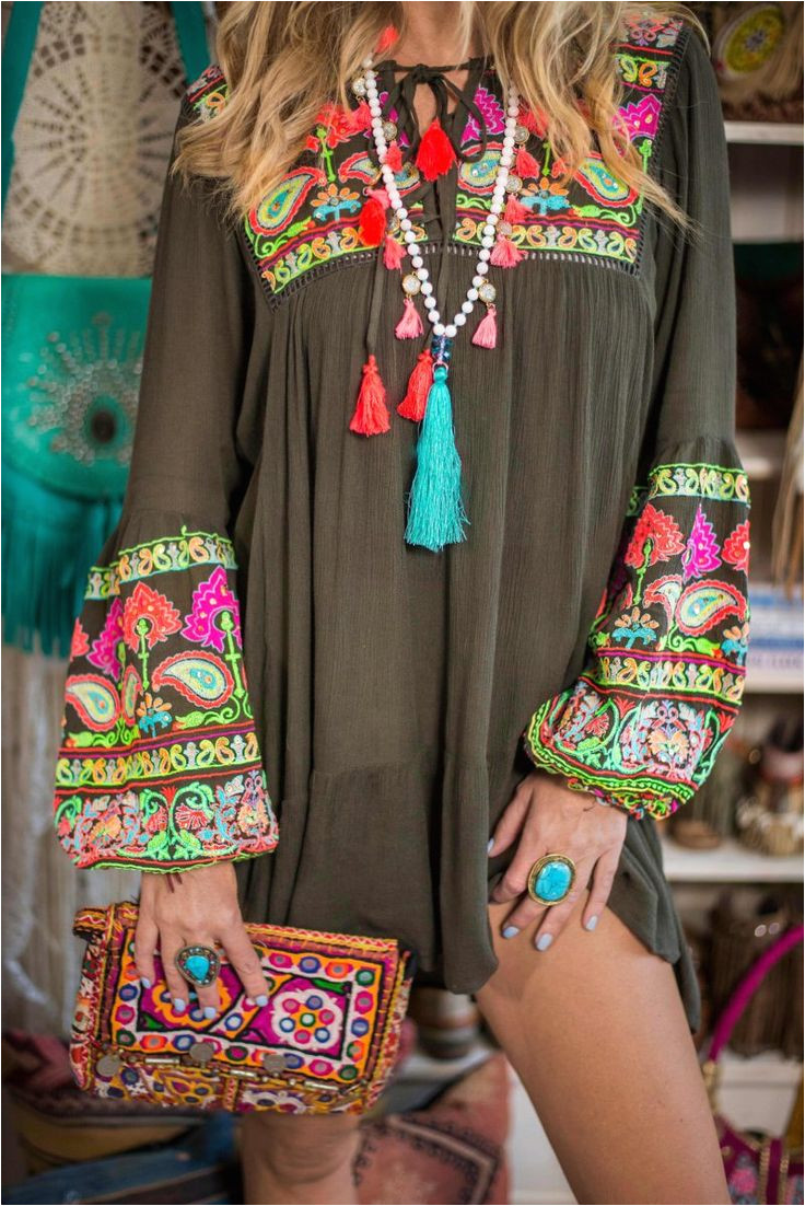 an embroidered boho dress that shouldn t be missing from your wardrobe