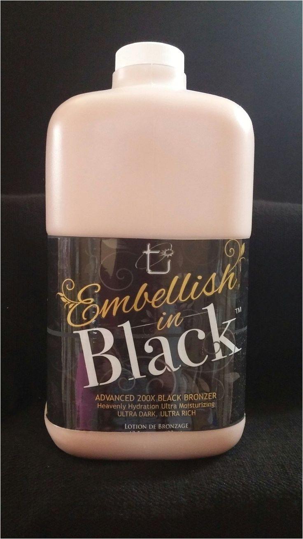 tanning lotion embellish in black 200x bronzer 64 oz half gallon w pump tan inc