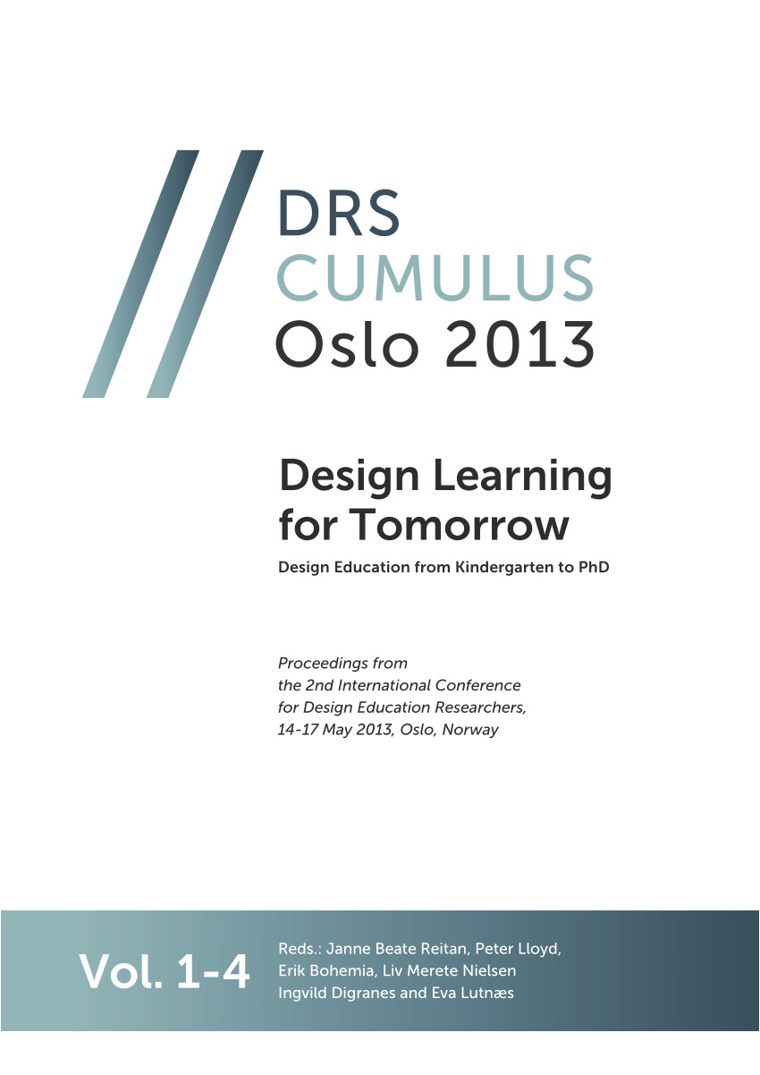 pdf design education from kindergarten to phd design learning for tomorrow proceedings of the 2nd international conference for design education