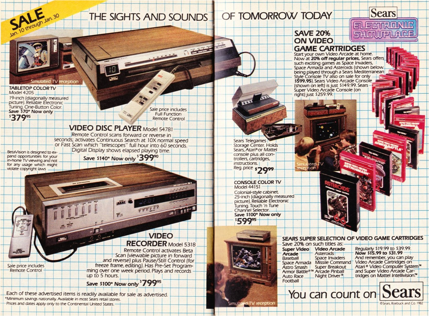 a remote control that is wired to the video recorder is a pretty sweet deal if you sit within four feet of the tv i know the sears video arcade was just