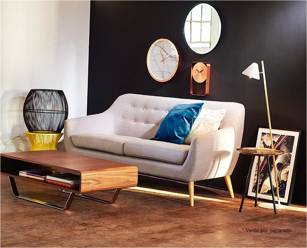 sofa norway tela 2 cuerpos gris claro ripley