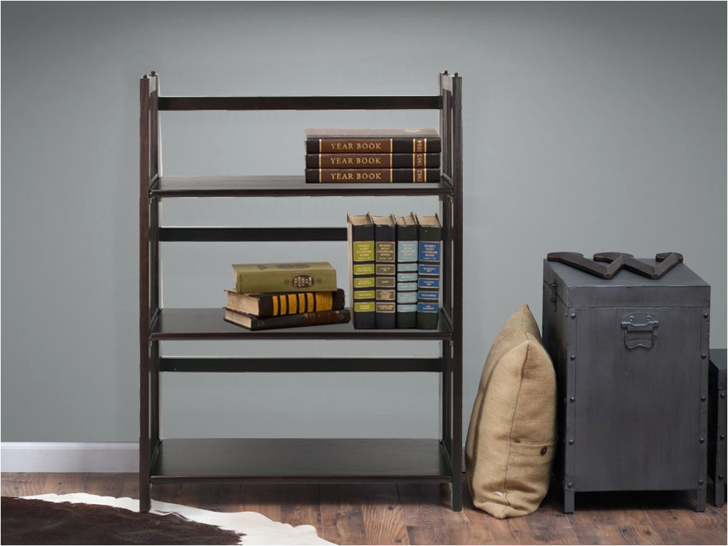 amazon com casual home 3 shelf folding stackable bookcase health personal care