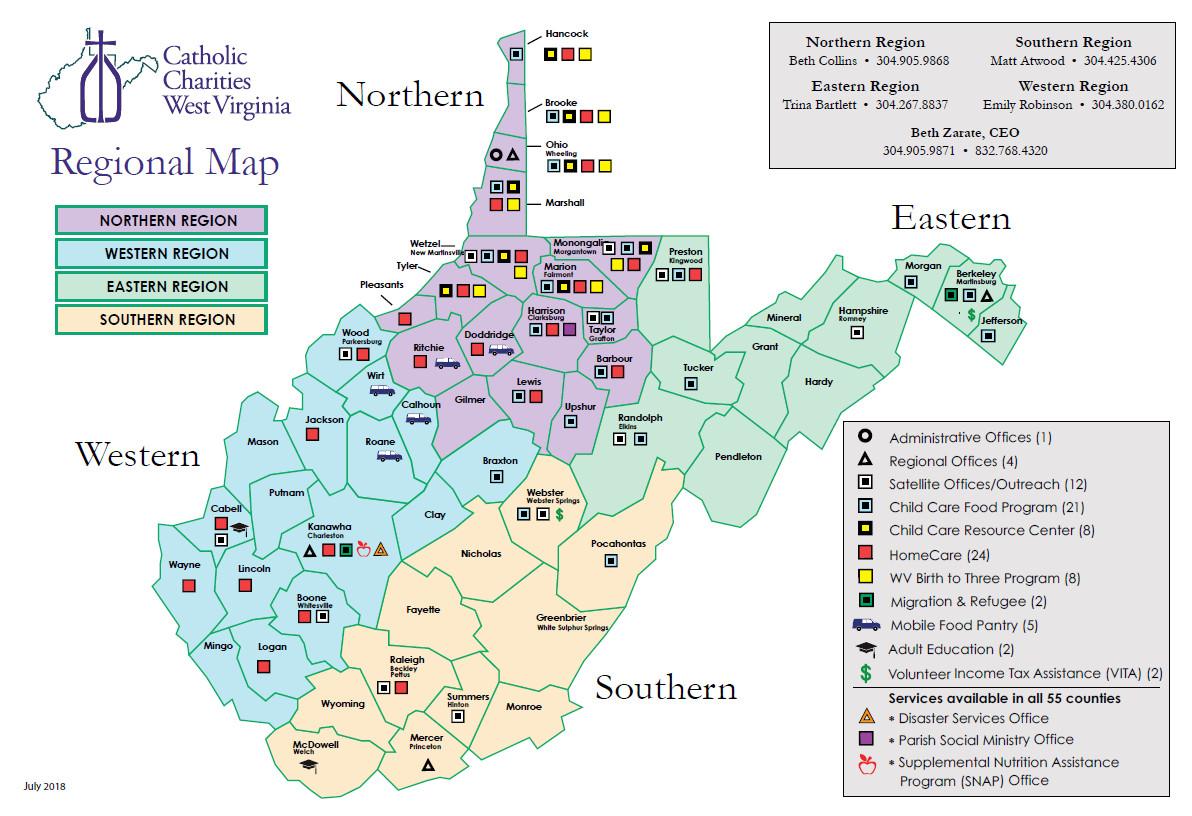 jefferson county ny tax map awesome catholic charities wv regions map catholic charities wv
