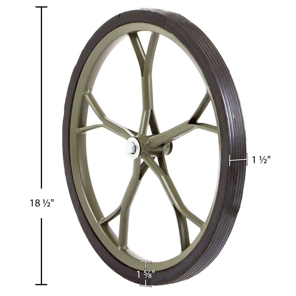 hunting game cart 18 5 solid rubber replacement wheel 1