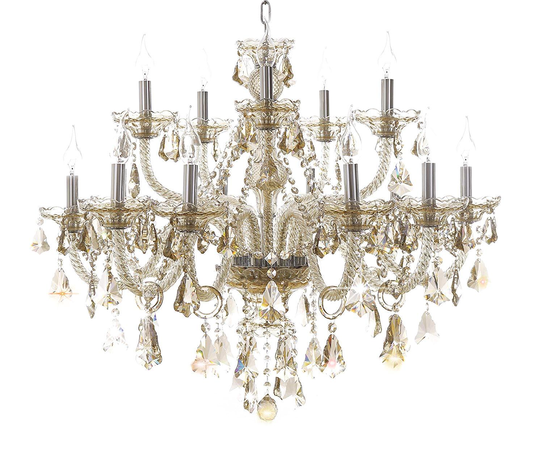 generic island lights crystals chandelier 15 lights ceiling fixtures color cognac amazon com