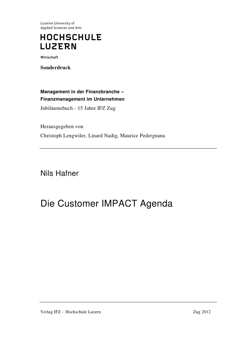 pdf die customer impact agenda