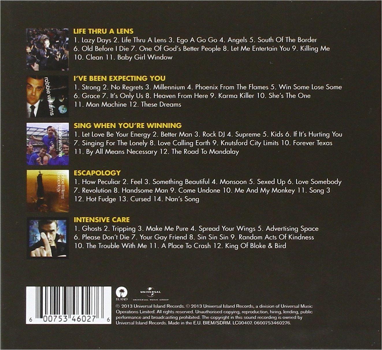 classic album selection limited edition robbie williams amazon de musik