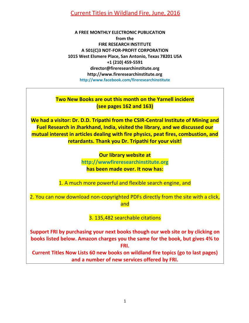 pdf current titles in wildland fire june 2016