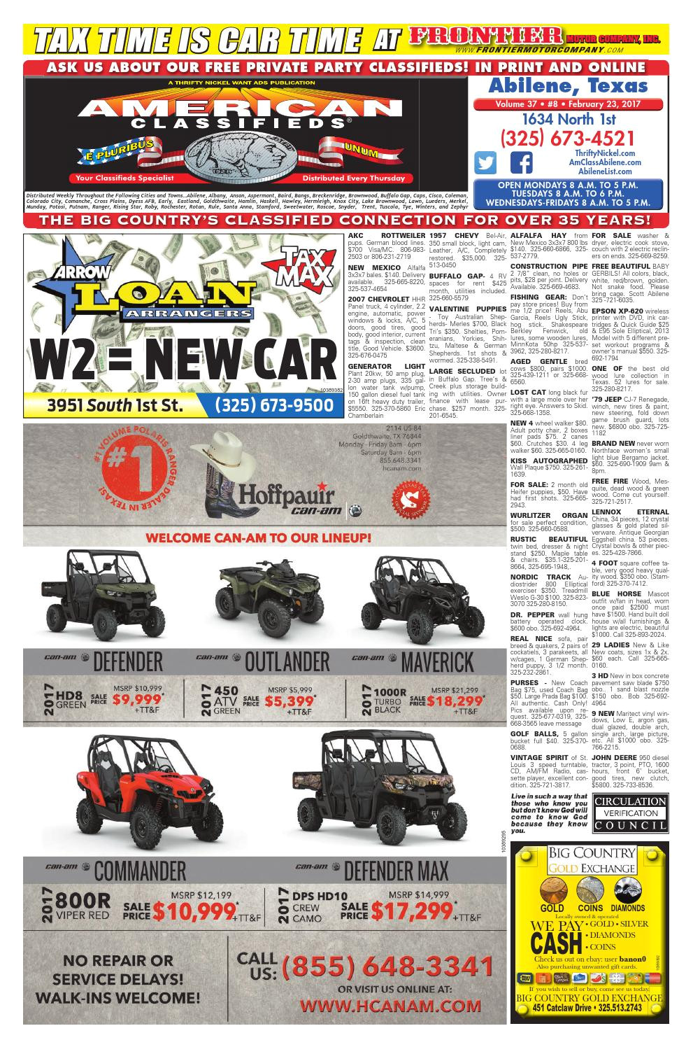 american classifieds abilene 02 23 17 by american classifieds abilene texas issuu