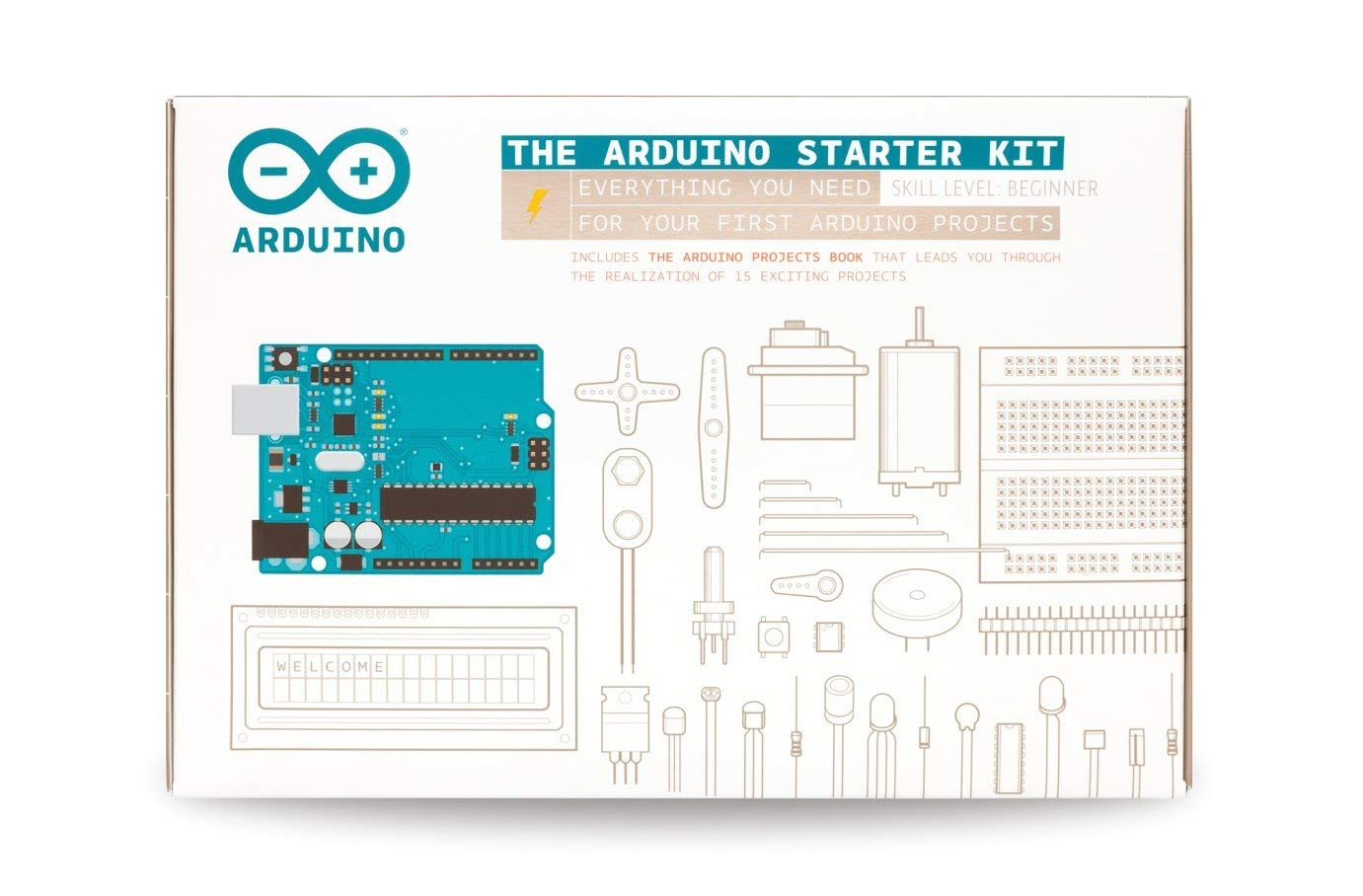 arduino starter kit for beginner k000007 english projects book amazon co uk computers accessories