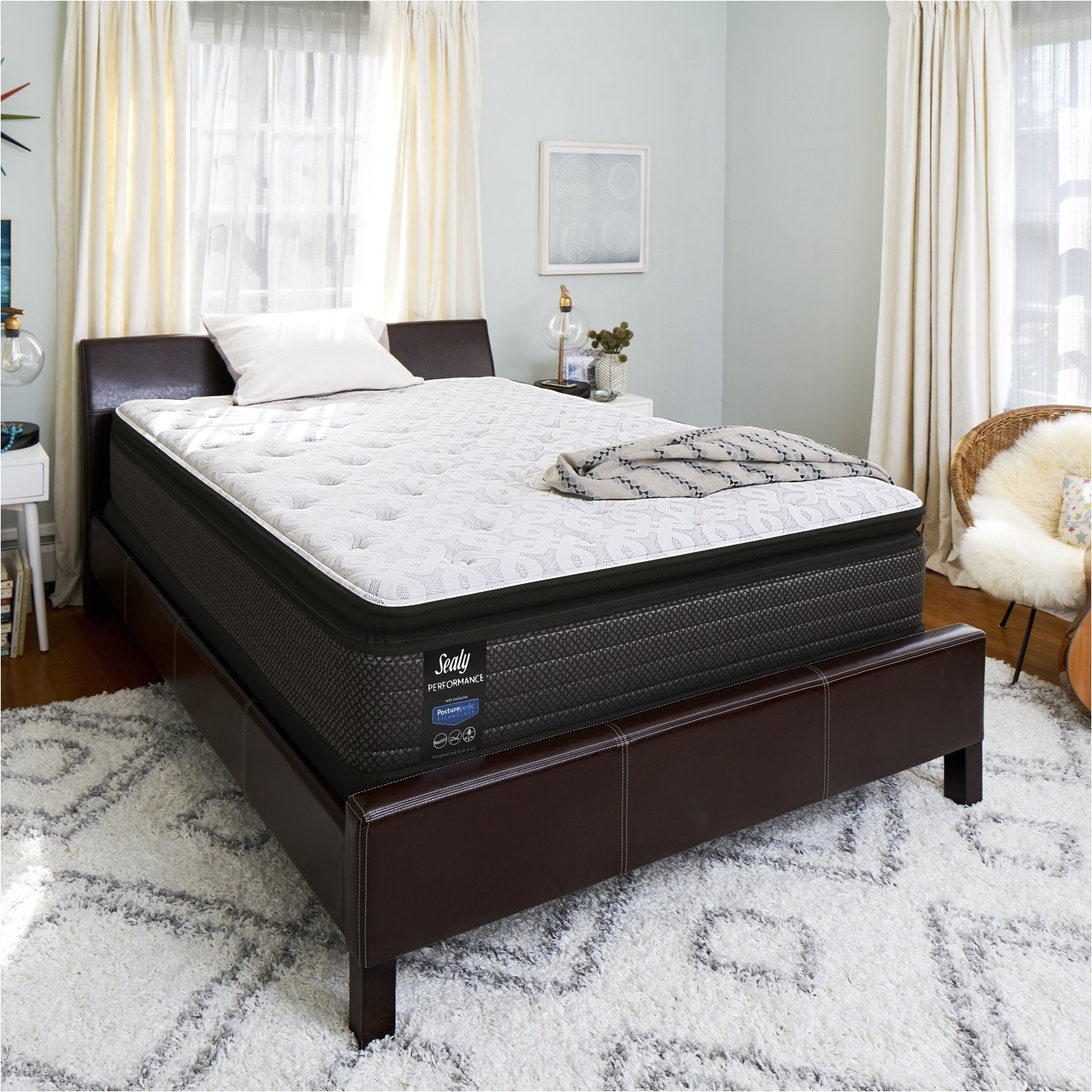shop sealy response performance 14 inch queen size plush pillowtop mattress set on sale free shipping today overstock com 20827977