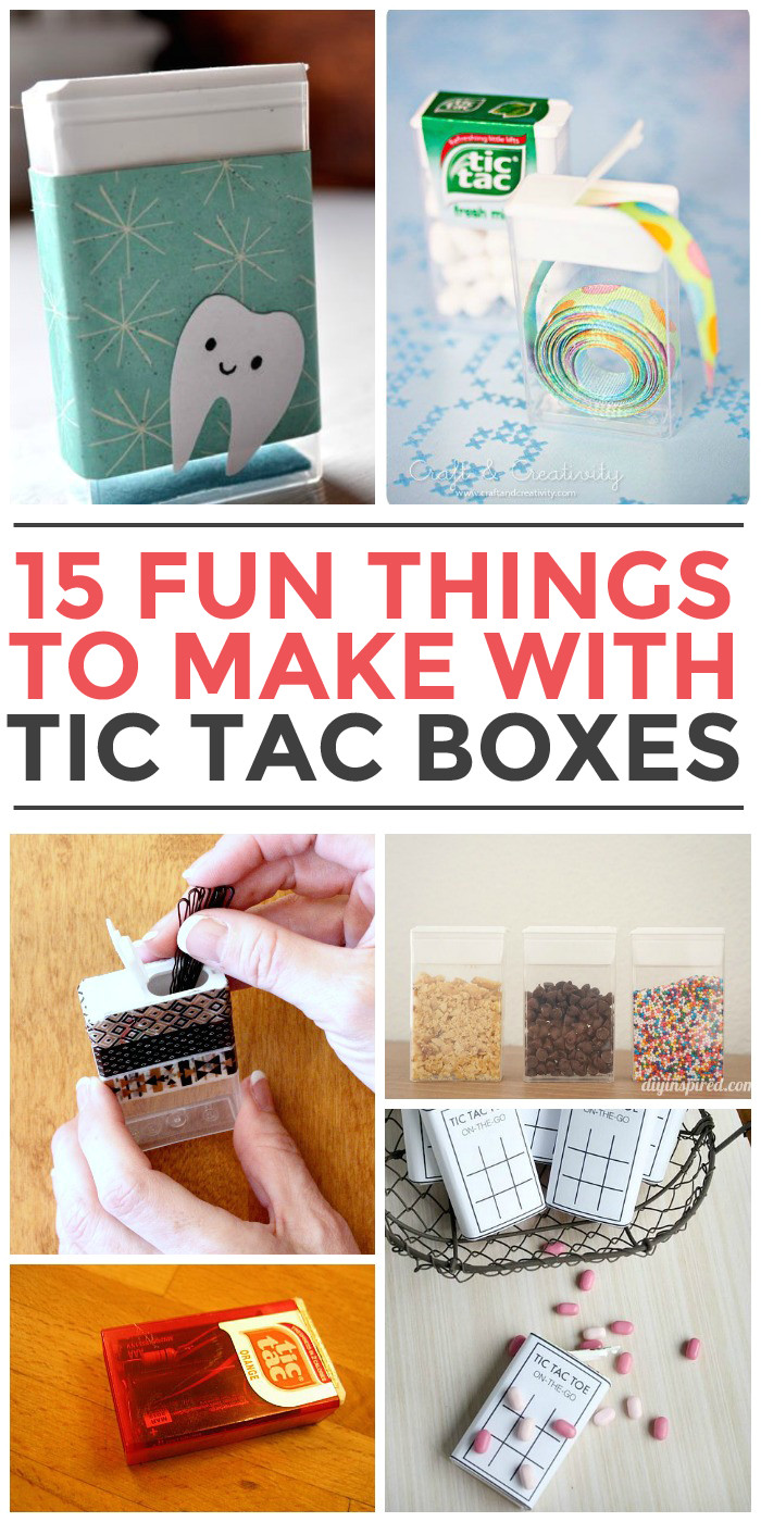 bringing new life to something you would normally consider trash is so fun today s trash turned treasure is tic tac containers