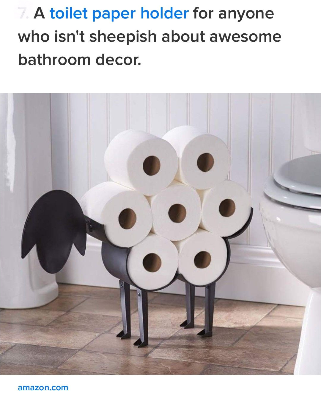 awesome sheep toilet paper holder