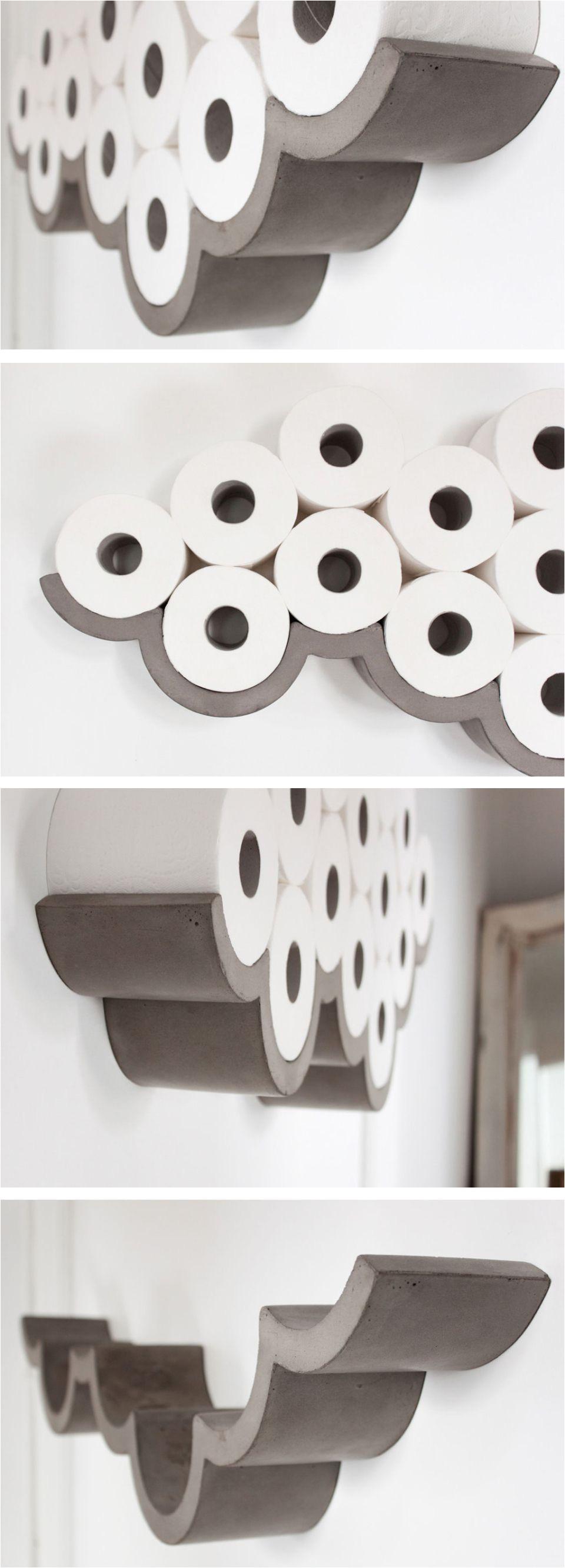 concrete cloud shaped toilet paper holder amazing