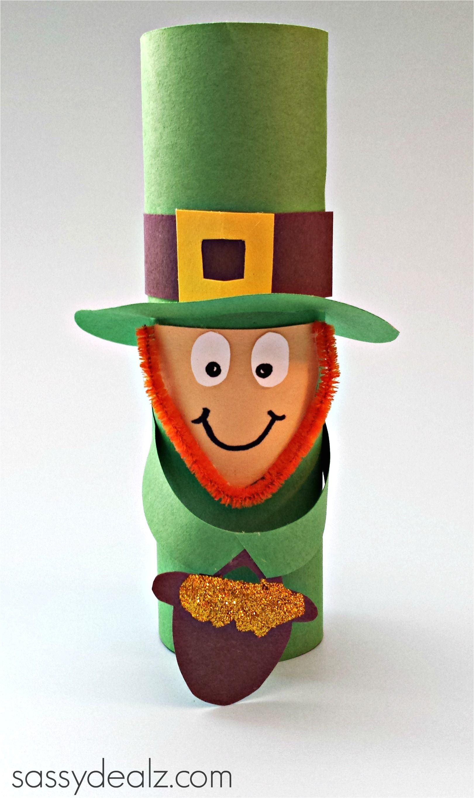 leprechaun toilet paper roll craft for st patrick s day crafty