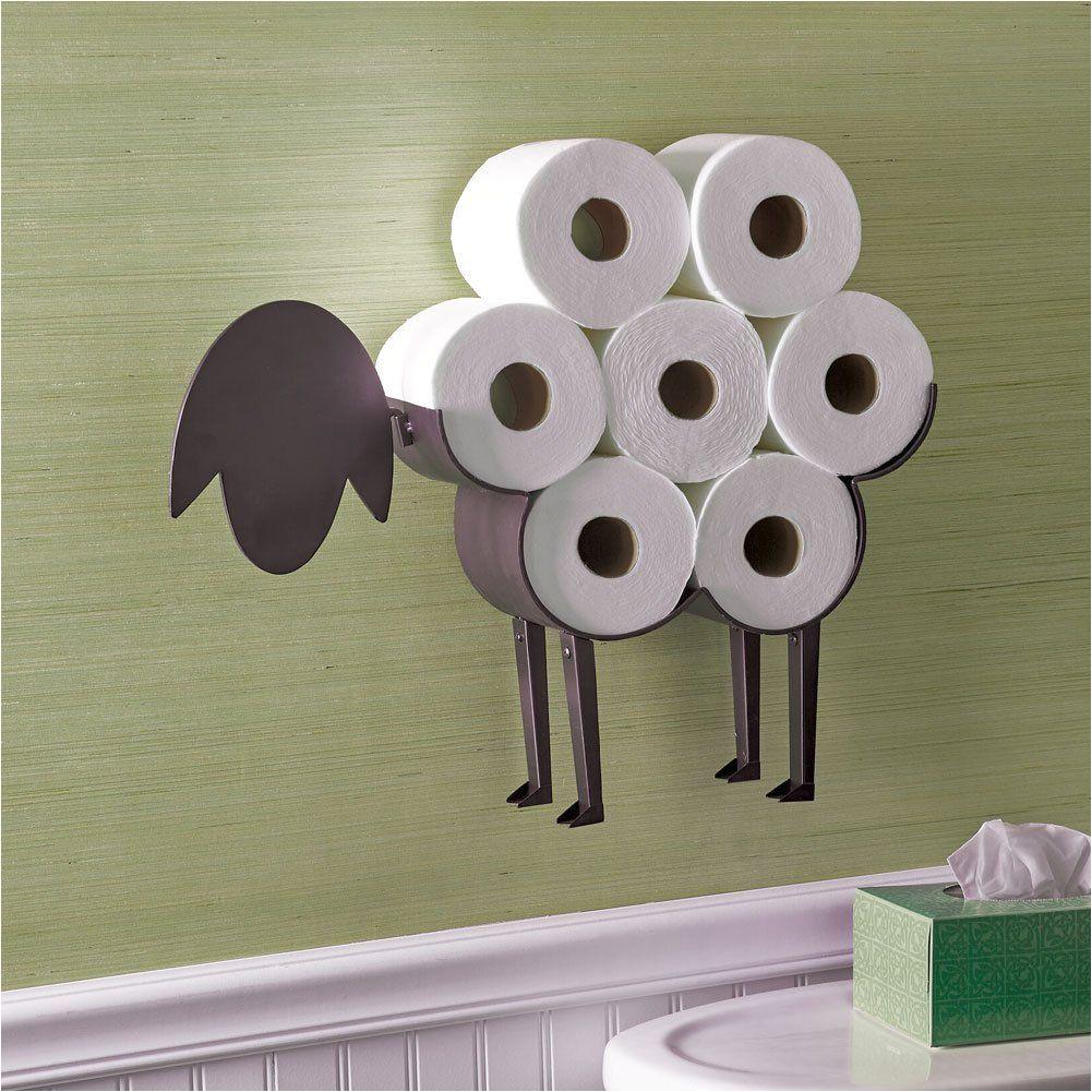 fancy sheep toilet paper holder