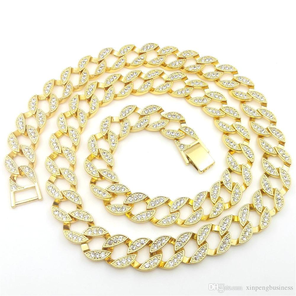 compre 18k labrador de oro amarillo cz diamond cuban chain link micro pave miami nb collar de helado iced out 140g 76cm 30inch 15mm de ancho a 30 15 del