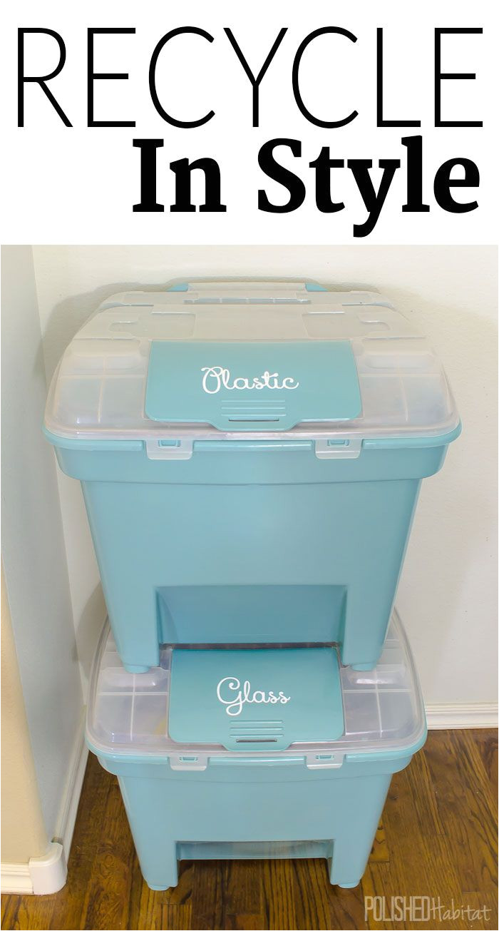 you can be enviromental friendly and stylish at the same time with pretty organizing recycling bins like these