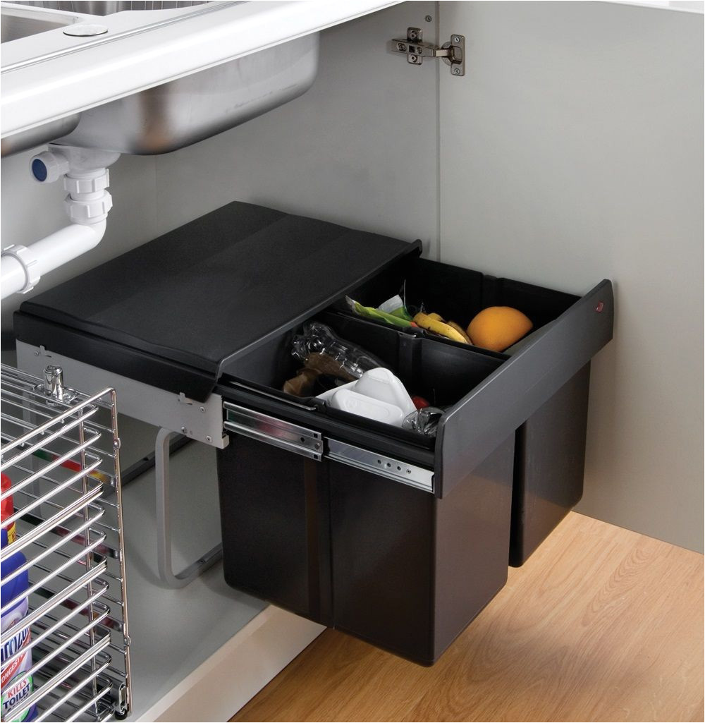 the wesco shorty internal waste bin with two bin compartments has been designed to fit under kitchen sink units it has great capacity to collect kitchen